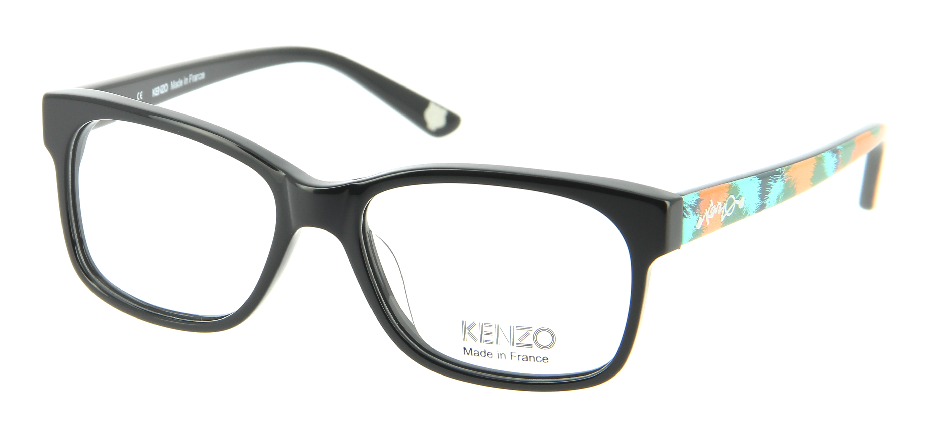 Kenzo Optical Glasses : Eyeglasses KENZO KZ 2218 C01 53/16 Woman Noir square ...