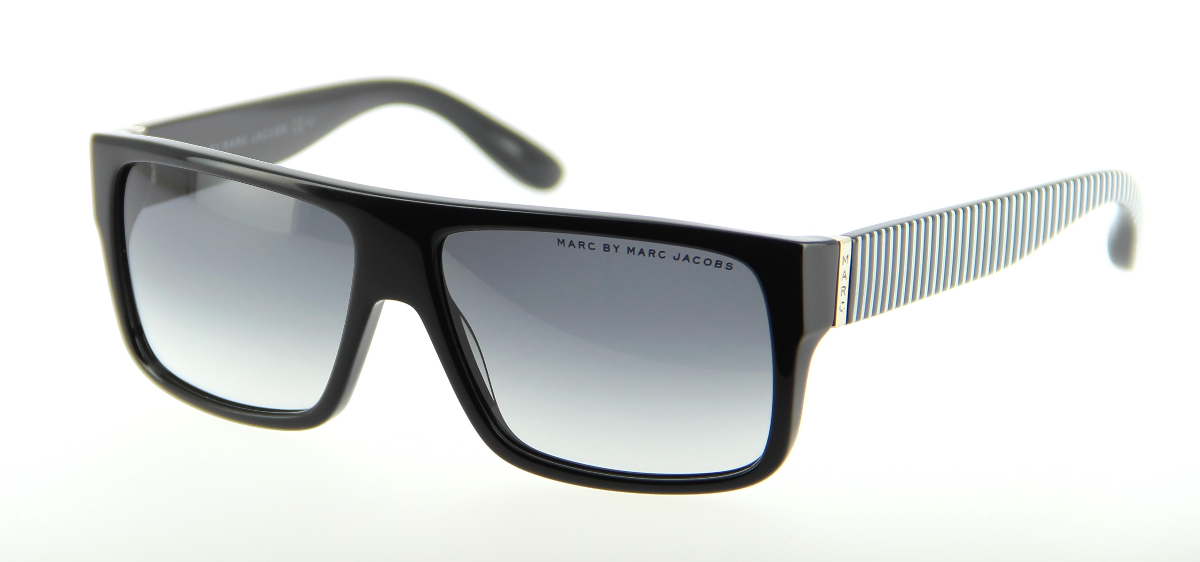 lunettes de soleil marc by marc jacobs mmj 096 n s bu8 57 14 mixte noir blanc carr e cercl e. Black Bedroom Furniture Sets. Home Design Ideas