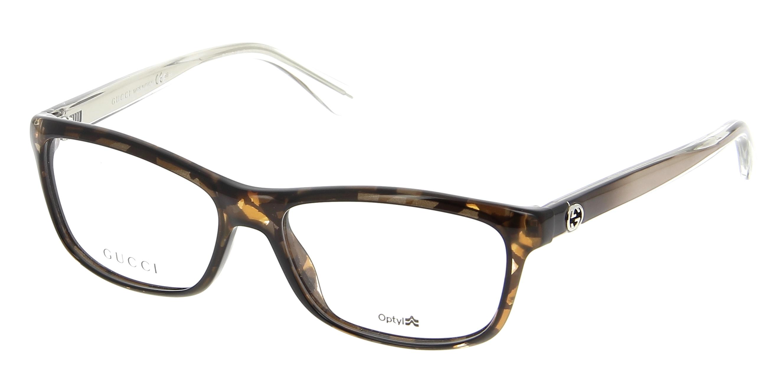 Gucci Full Frame Glasses : Eyeglasses GUCCI GG 3766 H3J 53/15 Woman Ecaille / Marron ...