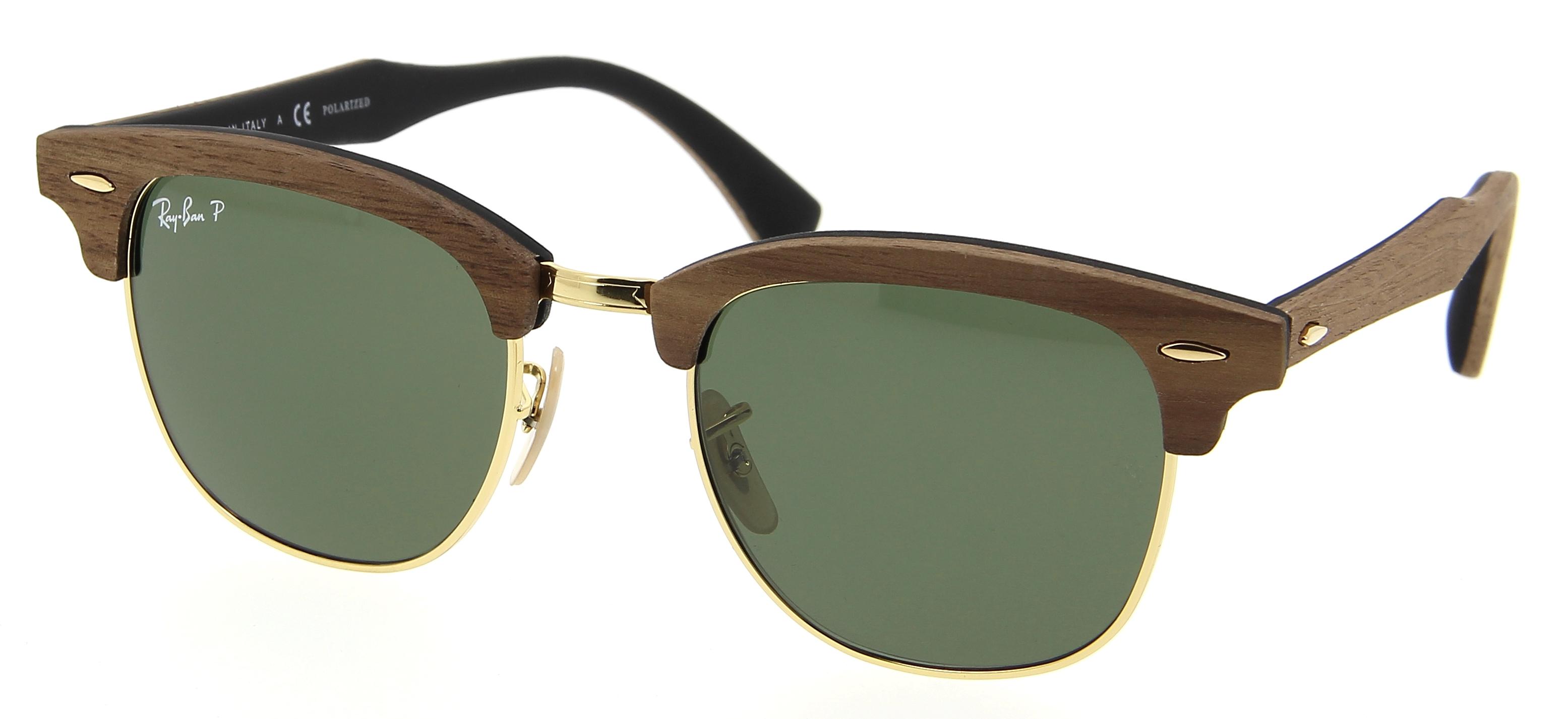 lunettes de soleil ray ban clubmaster rb 3016m 118158 51 21 mixte noisetier gomme noire. Black Bedroom Furniture Sets. Home Design Ideas