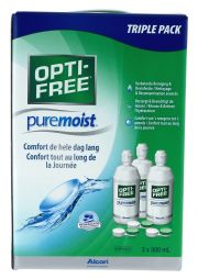 עדשות מגע תמיסות ALCON OPTI-FREE PURE MOIST Pack 3 x 300ml